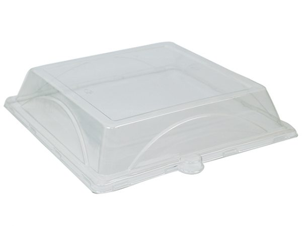 8 Inch Plastic Lids for square bagasse plates