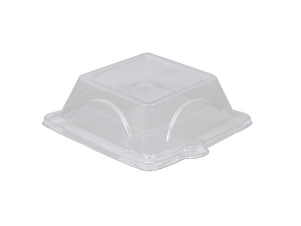 """6 inch clear lid for 6"""" square bagasse plate"""