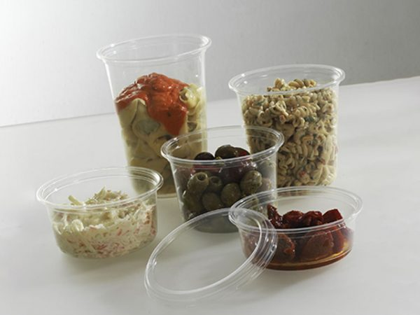 Clear PLA Compostable Deli Containers