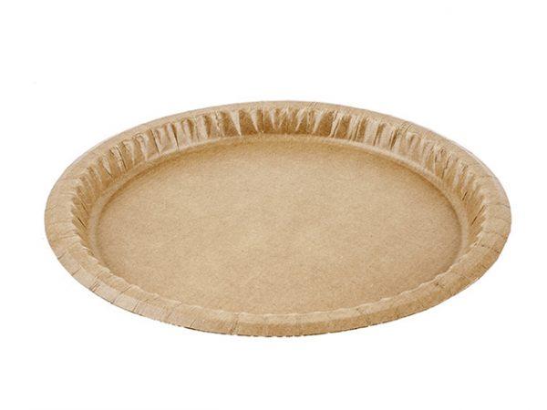 10.25 inch kraft brown paper plates