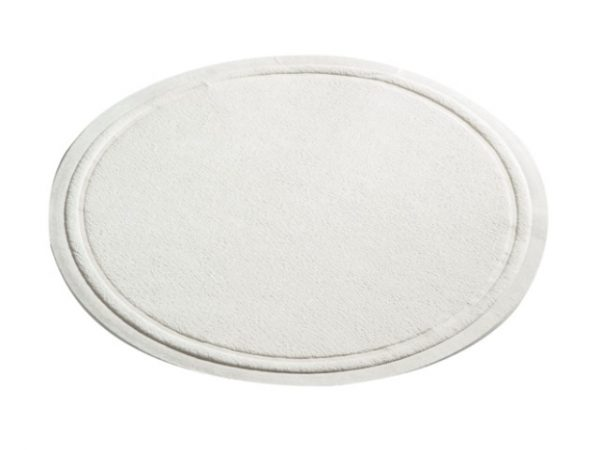Plain white 90mm wax backed coaster