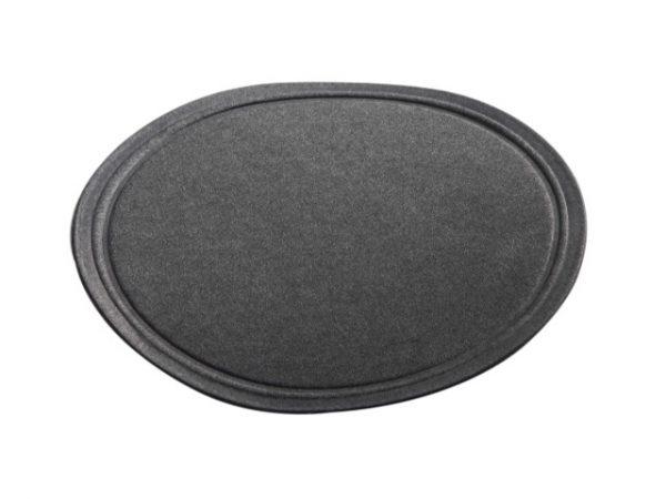 Plain black tissue coaster wax backed