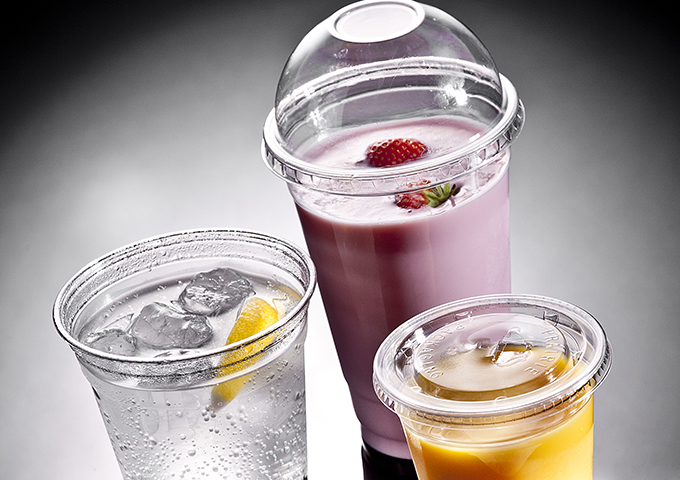 Clear Plastic Cold Drink Cups & Lids