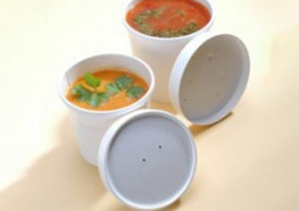 white paper soup container