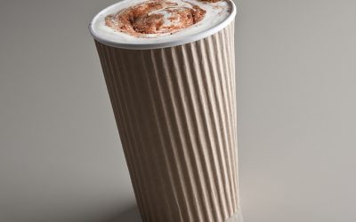 Ripple wrap insulated paper cups and food containers