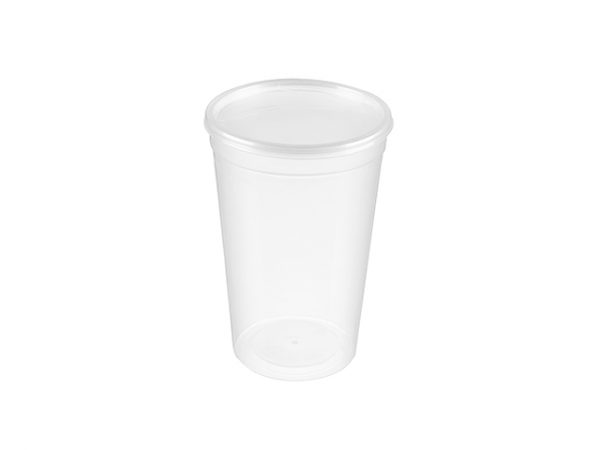 CE marked 2 pint disposable cup and lid