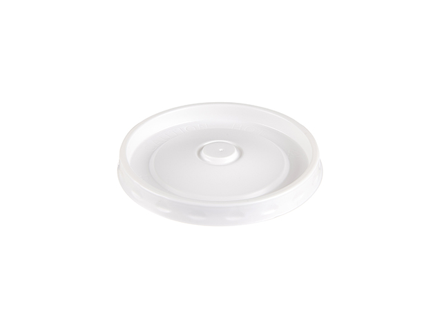 White plastic lid to fit 8, 12, 16 oz ripple food containers