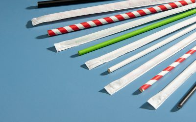 Hygienically Wrapped Paper Straws