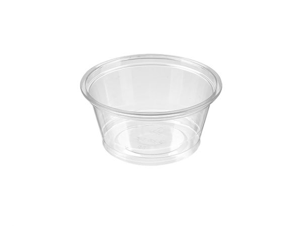 3.25 oz PET plastic portion pot